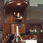 Japke op de preekstoel