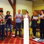 Zingen tijdens de dienst