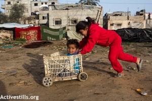 Kinderen uit Gaza spelen
