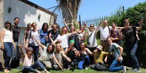 groepsfoto Jonge Remonstranten in Israël/Palestina